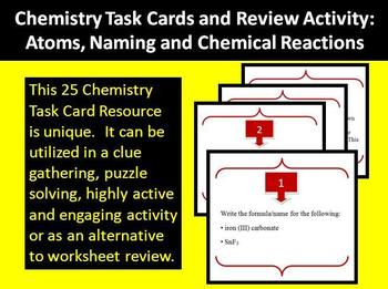 Chemistry - Atoms, Compound Naming and Chemical Reactions