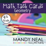 4th Grade Math Task Cards for Geometry