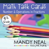 4th Grade Math Task Cards for Number and Operations in Fractions