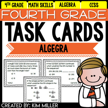 Fourth Grade Math Review: Task Cards - Algebra... by Kim ...