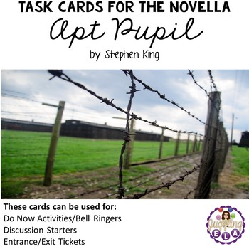 Task Cards for Apt Pupil by Stephen King