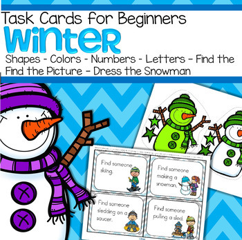 WINTER Task Cards for Beginners