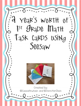 Task Cards for CCSS ELA and MN State Standards Math for Seesaw