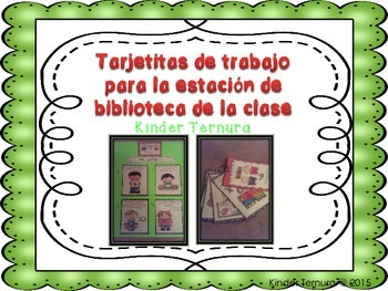 Task Cards for Library Station/8 Tarjetas de trabajo para