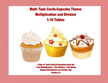 Task Cards for Multiplication and Division Practice Grade