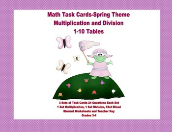Task Cards for Multiplication and Division Practice Grades