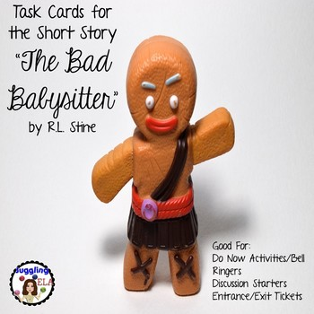 "Task Cards for the short story ""The Bad Babysitter"" by R.L. Stine"