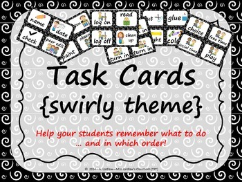 Task Order / Next Step Cards {Swirly Theme} -  (American S