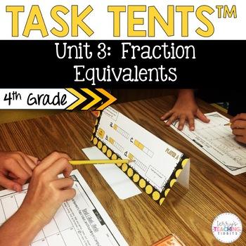 Task Tents™ - Math Edition {4th Grade Unit 3}