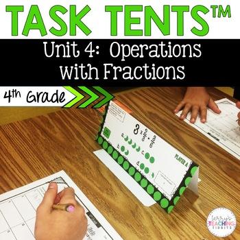 Task Tents™ - Math Edition {4th Grade Unit 4}