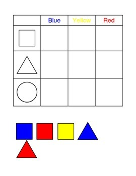 Tasks Galore Matching Colors and Shapes for Special Education