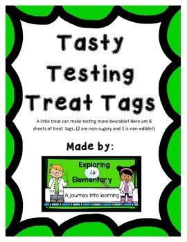 Tasty Testing Treat Tags