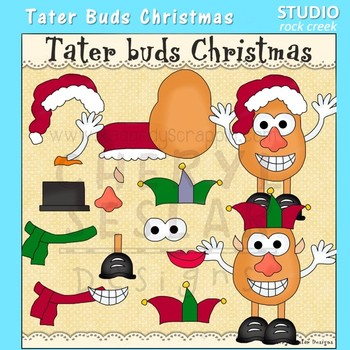 Tater Buds Potato Head Christmas Clip Art  C. Seslar
