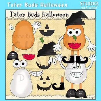Tater Buds Potato Head Halloween Clip Art  C. Seslar