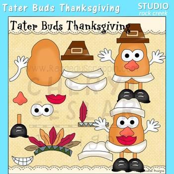 Tater Buds Potato Head Thanksgiving Clip Art  C. Seslar