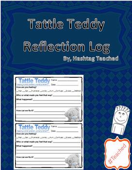 Tattle Teddy Reflection Template Sheets (Behavior Manageme