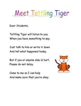 Tattling Tiger