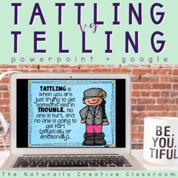 """Tattling Vs. Telling and """"I Feel"""" Slide Show"""