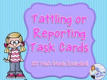 Tattling or Reporting Task Cards