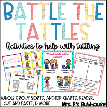 Battle the Tattle: Activities and Resources to Help With Tattling