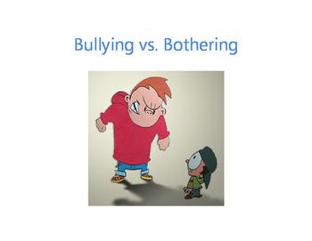 Tattling vs. Telling & Bullying vs. Bothering lessons