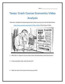 Taxes: Crash Course Economics- Video Analysis with Key