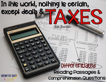Taxes In Our Economy {Differentiated Reading Passages & Qu