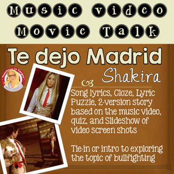 Te Dejo Madrid Shakira Music Video Movie Talk Pack