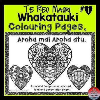 Te Reo Māori Whakataukī  ** Colouring Pages**
