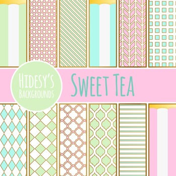 Tea Party - Bone China Inspired Backgrounds / Digital Pape