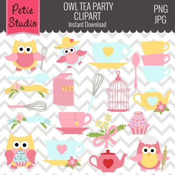 Tea Party Owls, Owls in Kitchen, Summertime Owls, Pink Owl