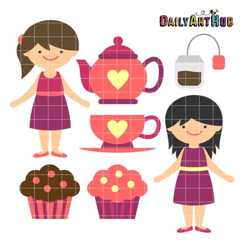 Tea Time Clip Art - Great for Art Class Projects!