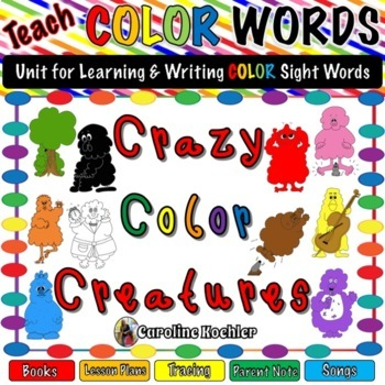 Teach Color Words with Crazy Color Creatures