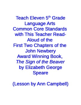 Teach Common Core Standards with a Read Aloud from The Sig