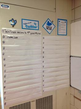 Teach Digital Citizenship with Analog Twitter Wall
