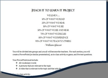Teach It to Learn It Group Project