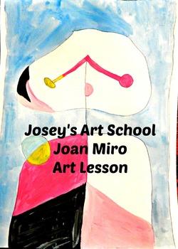 Art Lesson Teach Joan Miro to your Students Grades K-6 Art