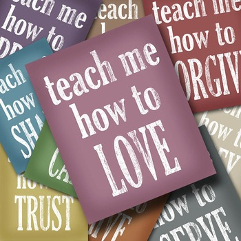 Teach Me How - Printable Wall Art - Includes 10 Images