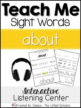 Teach Me Sight Words: ABOUT [Interactive Center with Print