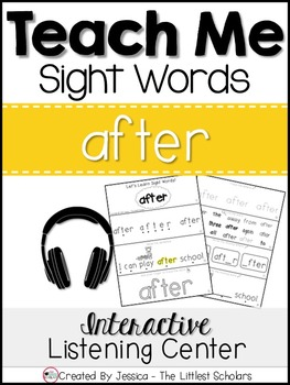 Teach Me Sight Words: AFTER [Interactive Center with Print