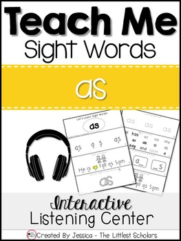 Teach Me Sight Words: AS [Interactive Center with Printabl