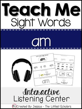 Teach Me Sight Words: AM [Interactive Center with Printabl