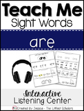 Teach Me Sight Words: ARE [Interactive Center with Printab
