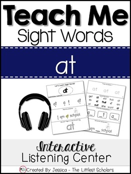 Teach Me Sight Words: AT [Interactive Center with Printabl