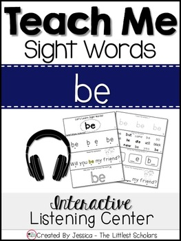 Teach Me Sight Words: BE [Interactive Center with Printabl