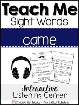Teach Me Sight Words: CAME [Interactive Center with Printa