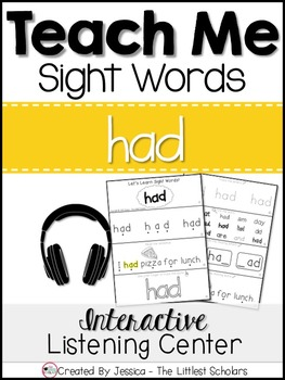 Teach Me Sight Words: HAD [Interactive Center with Printab