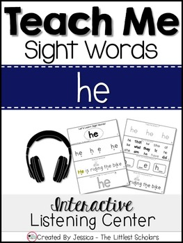 Teach Me Sight Words: HE [Interactive Center with Printabl