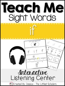 Teach Me Sight Words: IF [Interactive Center with Printabl
