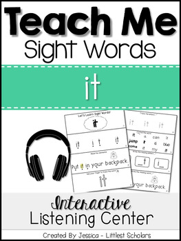 Teach Me Sight Words: IT [Interactive Center with Printabl